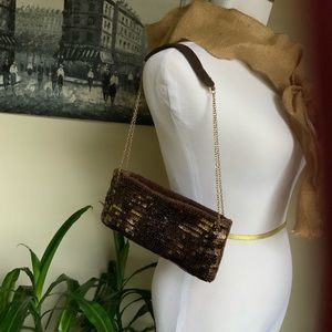 NY&co Brown sequin purse
